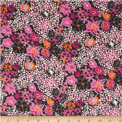 Chiffon Floral Purple/Orange