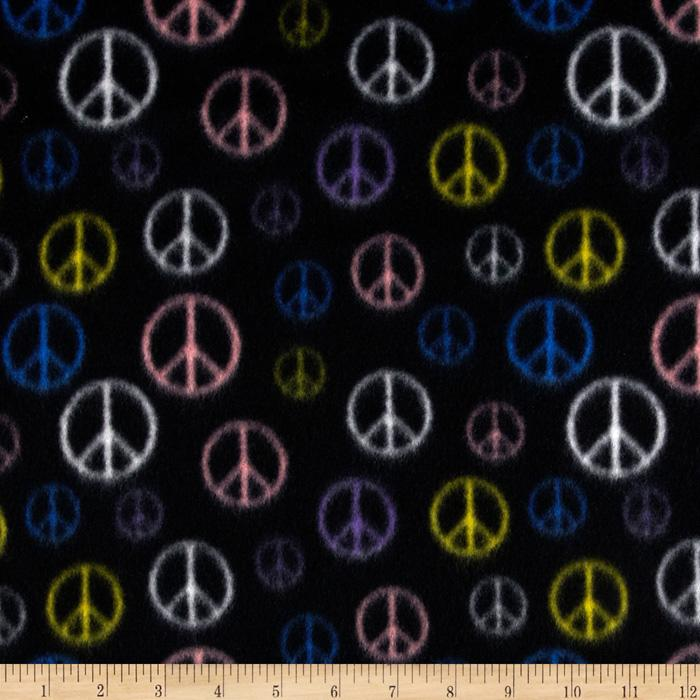 Wintry Fleece Peace Black