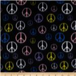 0262450 Wintry Fleece Peace Black