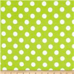 0268142 Riley Blake Flannel Basics Dots Medium Lime