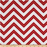 214077 Cruzin' Chevron Stripe Red