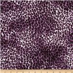 Monaco Stretch ITY Jersey Knit Leopard Purple