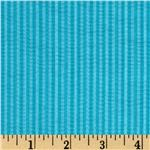 Tutti Frutti Plisse Stripes Turquoise/White
