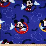 0268664 Disney Fleece This Way Mickey Framed Blue