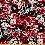 A E Nathan Large Floral White/Red/Black
