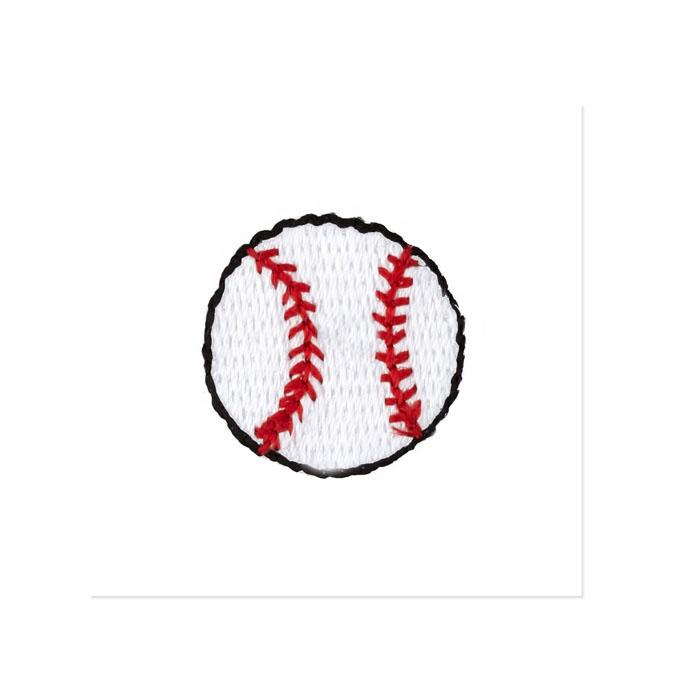 Boutique Applique Baseball White/Red