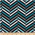 Design Studio Herringbone Black/Blue