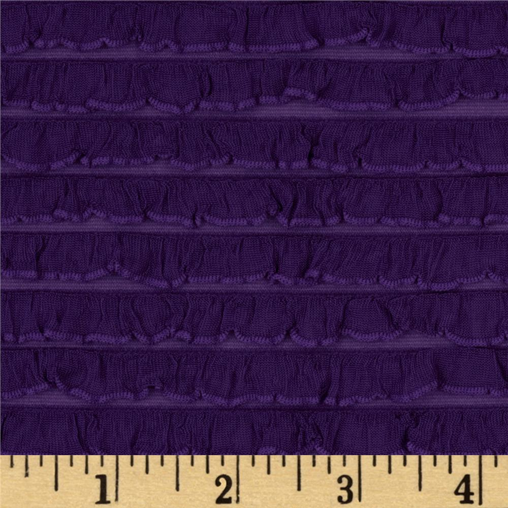 Bisou Stretch Mini Ruffle Knit Purple