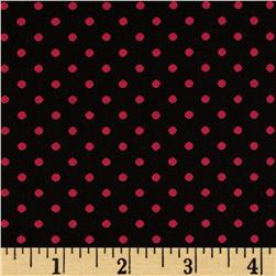 Cotton Poplin Dot Black/Red