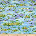 0285132 Tribute to Monet Waterlilies Allover Multi