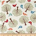 Moda Family Tree Birds & Trees Cream