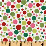 Michael Miller Play Dot Santa Red/Green