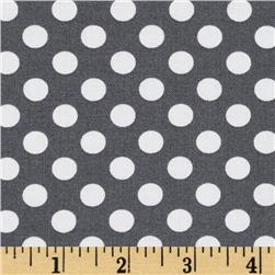 Kaufman Spot On Medium Dot Grey