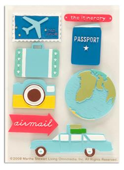 Martha Stewart Crafts Resin Stickers Travel