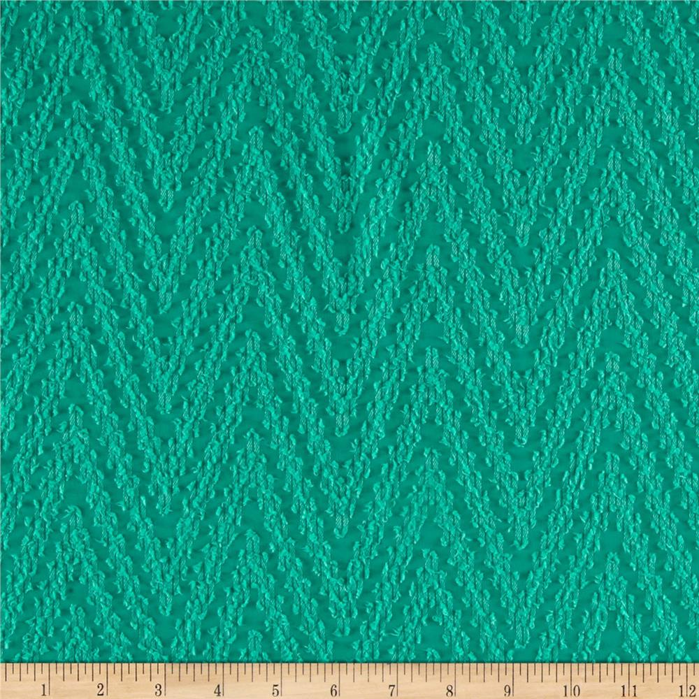 Palermo Chiffon Chevron Jade Green