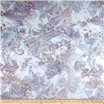 0290289 Kimono Voile Paisley Dream Purple