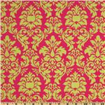 Michael Miller Dandy Damask Sorbet Watermelon Pink