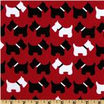 EL-180 Urban Zoologie Scottie Dogs Red