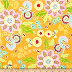 0279069 Riley Blake Madhuri Large Floral Orange