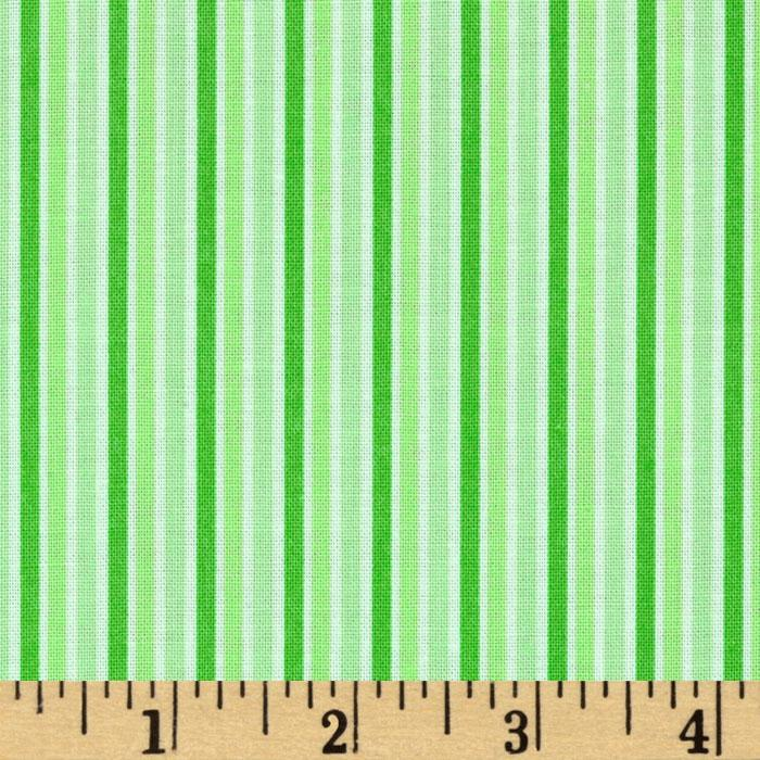Brights & Pastels Basics Stripe Green