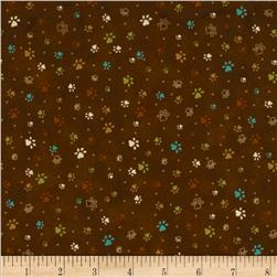 Kitty Kat Kapers Paw Print Brown
