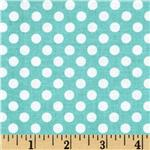 Riley Blake Dots Small Aqua