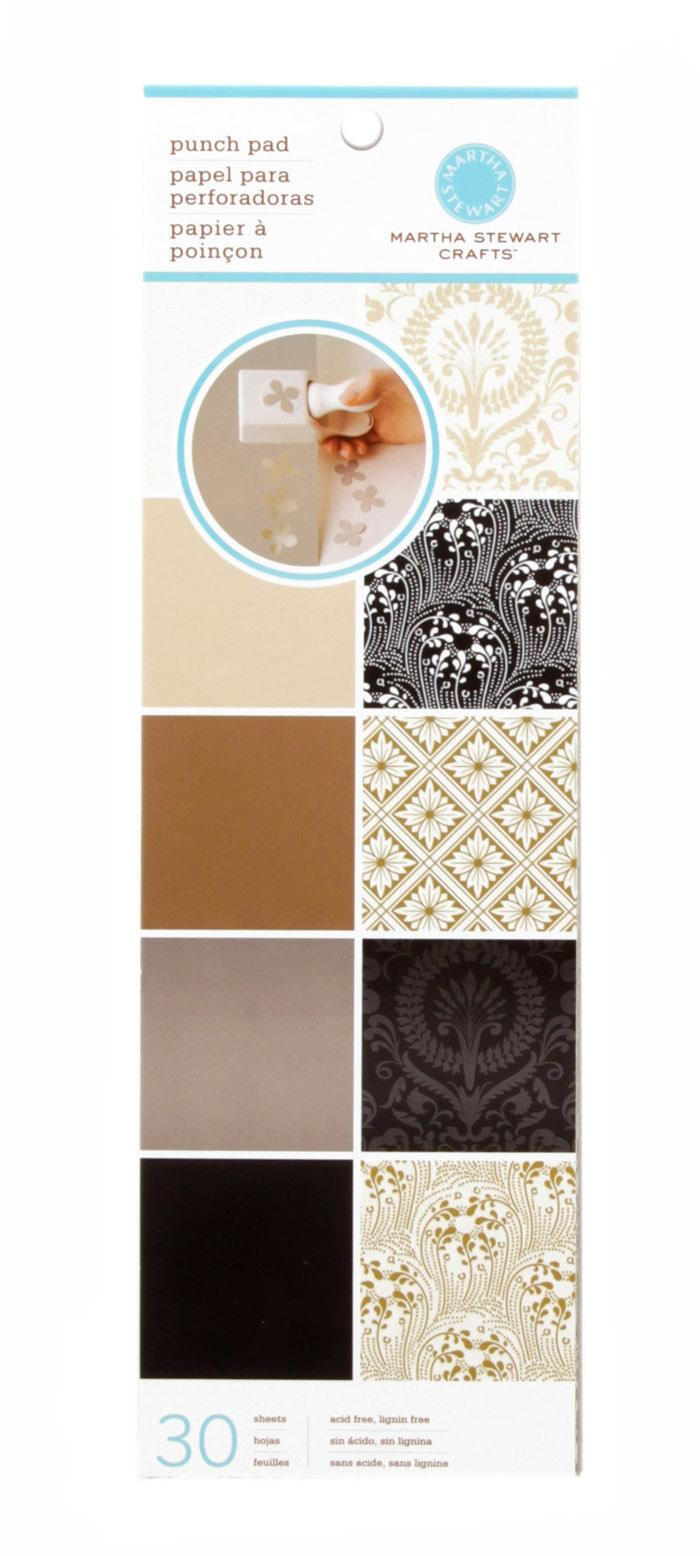 Martha Stewart Crafts Punch Pad 4&quot; X 12&quot; Neutrals