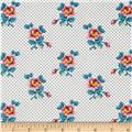 Quilts of Florence Peto Series Flowers on Pin Dots White