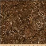 Batavian Batiks Diagonal Dots Brown