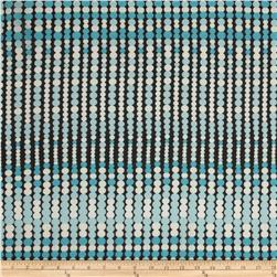 Chiffon Dotted Stripe Aqua/Black