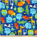 Timeless Treasures Jungle Animals Blue