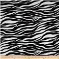 Stretch Tissue Hatchi Knit Zebra Black/White