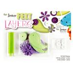Ka-Jinker Felt Layers Paisley Embellishment Kit