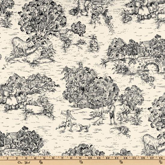 Pastoral Toile Black/Ivory