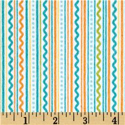 Riley Blake Summer Breeze Flannel Stripe Blue