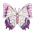 NR-2457 Large Butterfly Iron On Sequin Applique Lavender