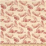 Country Touch Toile Cream/Red