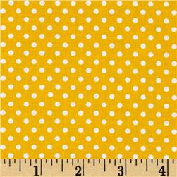 Moda Dottie Small Dots Yellow
