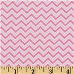 0271516 Alpine Flannel Basics Chevron Pink