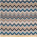Claridge Del Mar Chevron Monocco Blue