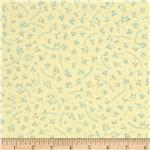 0286624 Little Forest Flannel Leaves Sun Yellow