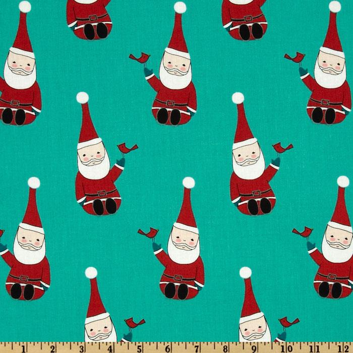 Santa Claus is Coming to Town Roly Poly Santa Teal