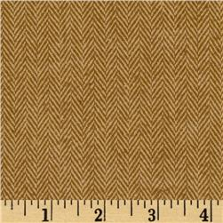 Primo Plaids Flannel Yarn Dyed Herringbone Brown