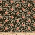Old Savannah Floral Scroll Brown/Pink