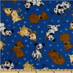 Fleece Playful Puppies Blue
