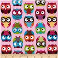 Timeless Treasures Owls Pink