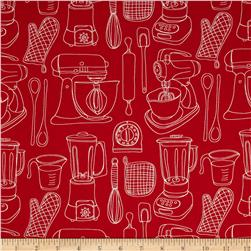 Kitschenette Kitchen Utensils Red