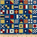 Ship&#39;s Ahoy Nautical Flags Navy