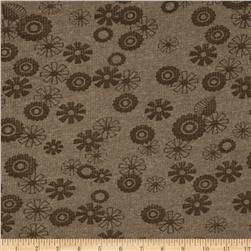 Thermal Knit Floral Brown