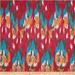 Premier Prints Sheeting Ikat Craze Poppy